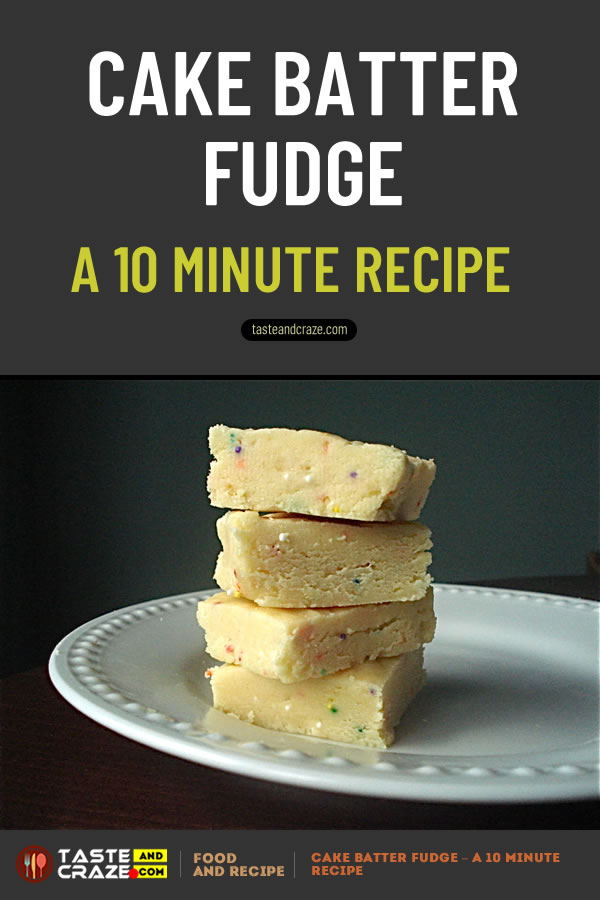 Cake Batter Fudge Recipe. Like cake batter? Then you will love this. Seriously. This stuff is soooo good! #CakeBatterFudgeRecipe #CakeBatterFudge #CakeBatter #Cake #CakeRecipe #CakeBatterRecipe #FudgeRecipe #BatterRecipe