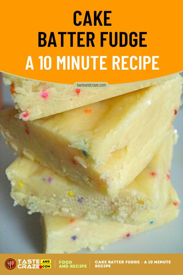 Cake Batter Fudge Recipe. #CakeBatter #Cake #CakeRecipe #CakeBatterRecipe #FudgeRecipe #BatterRecipe Like cake batter? Then you will love this. Seriously. #CakeBatterFudgeRecipe #CakeBatterFudge