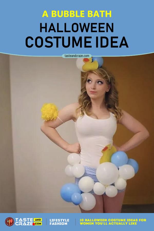 #Halloween2019 #CostumeIdeas #HalloweenIdeas Halloween Costume Ideas for Women - A Bubble Bath #HalloweenCostume #HalloweenCostumeIdeas #BunchofGrapes #Grapes #WomenCostume