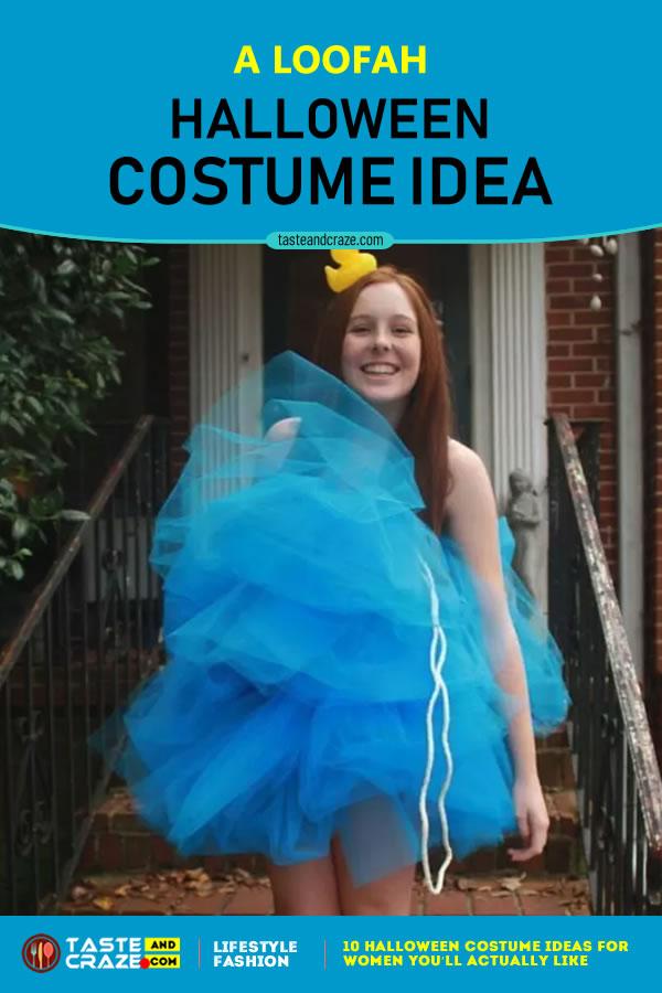 Halloween Costume Ideas for Women - A Loofah #Halloween2019 #CostumeIdeas #HalloweenIdeas #HalloweenCostume #HalloweenCostumeIdeas #WomenCostume #Loofah