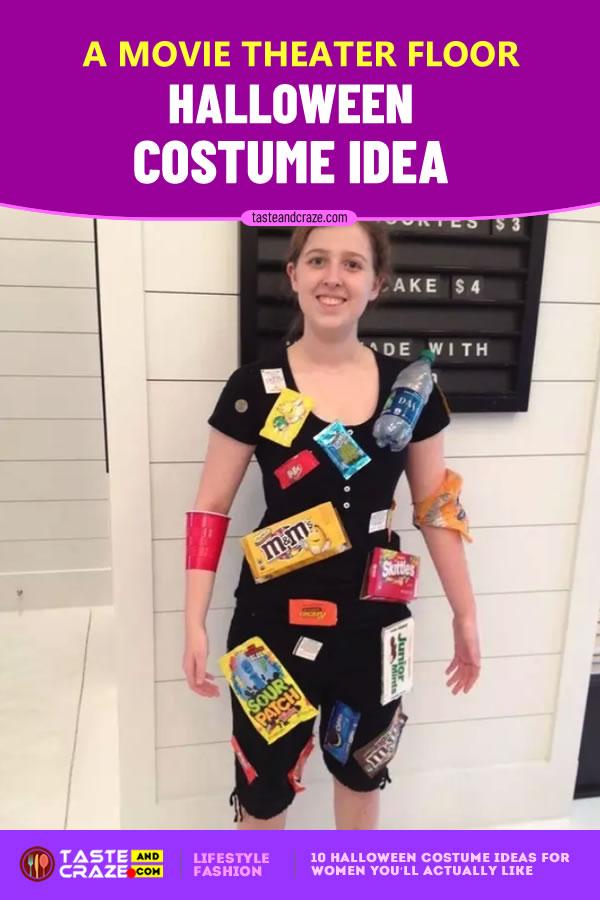 A movie theater floor - Halloween Costume Ideas for Women #Halloween2019 #CostumeIdeas #HalloweenIdeas #HalloweenCostume #HalloweenCostumeIdeas #WomenCostume #movietheater #movie #theater #theaterfloor