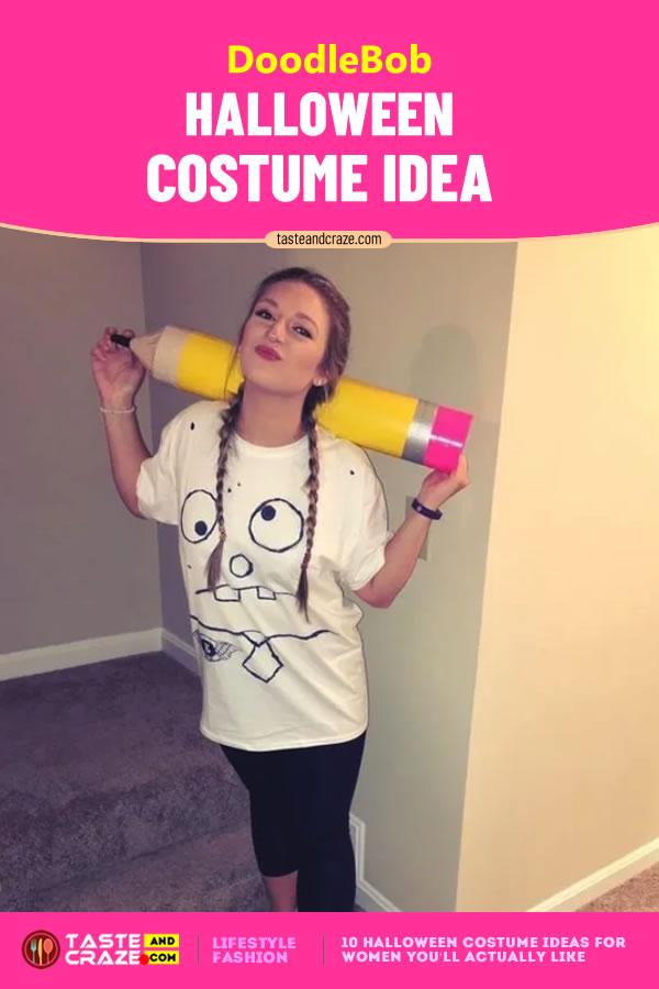 DoodleBob - Halloween Costume Ideas for Women #Halloween2019 #CostumeIdeas #HalloweenIdeas #HalloweenCostume #HalloweenCostumeIdeas #WomenCostume #DoodleBob #Doodle