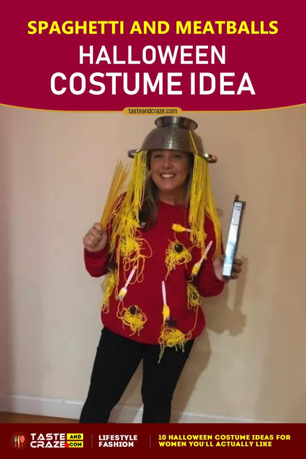 Halloween Costume Ideas for Women - #Spaghetti and #Meatballs #HalloweenCostumeIdeas #HalloweenIdeas #HalloweenCostume #CostumeIdeas