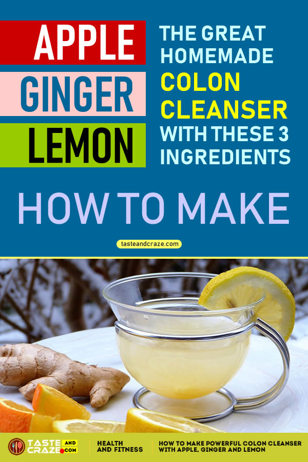 How To Make Powerful #ColonCleanser With #Apple #Ginger And #Lemon It'll Flush Pounds Of Toxins From Your Body! #Toxins #Colon#LemonJuice #AppleJuice