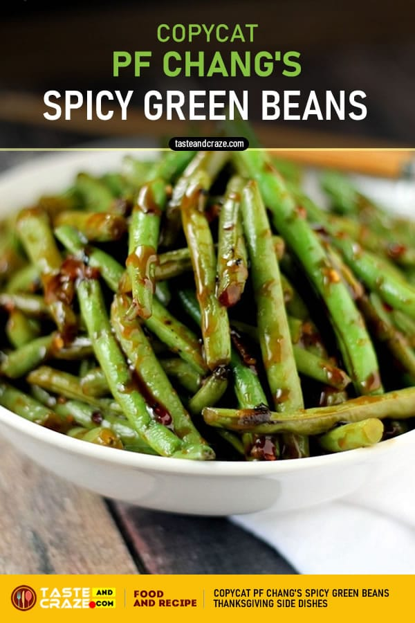 Copycat PF Changs Spicy Green Beans- 6 Thanksgiving Side Dishes #Thanksgiving #SideDishes #ThanksgivingSideDishes #PFChangs #Changs #GreenBeans #GreenBeansRecipe #BeansRecipe #CopycatRecipe #Copycat