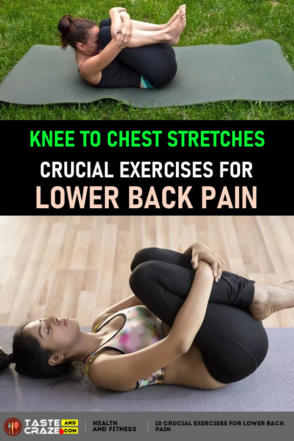 Knee to Chest Stretches 10 Crucial Exercises for Lower Back Pain #CrucialExercises #LowerBackPain #LowerPain #BackPain #ExercisesforLowerBackPain #ExercisesforBackPain #ExercisesforPain #KneetoChestStretches #ChestStretches