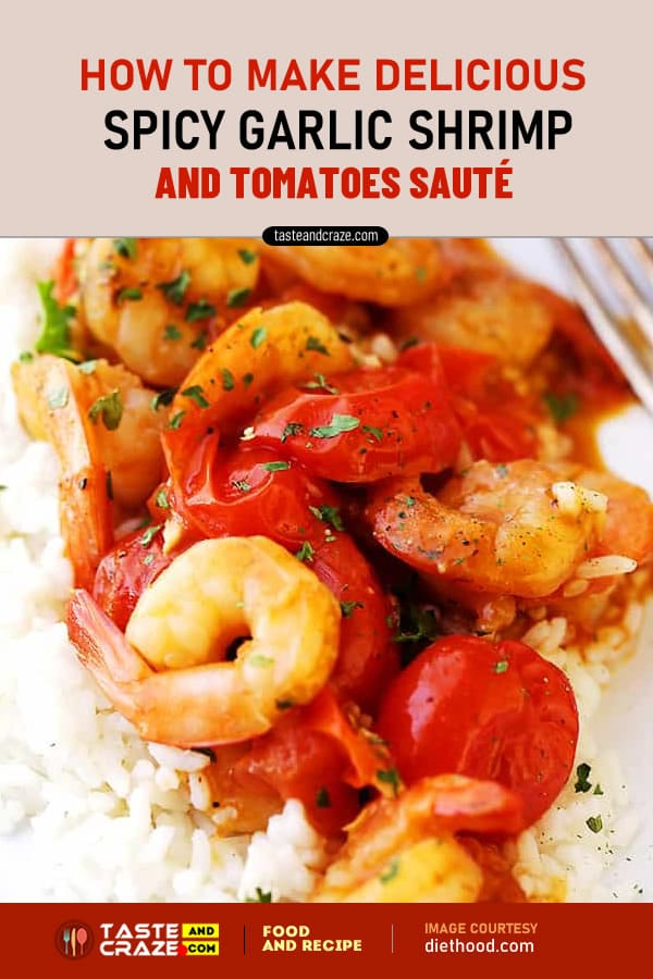 How to make Spicy Garlic Shrimp and Tomatoes Sauté #GarlicShrimp #Garlic #Shrimp #TomatoesSauté #TomatoSauté #Tomatoes #Sauté #GarlicShrimpRecipe #GarlicRecipe #ShrimpRecipe #TomatoesSautéRecipe #TomatoesRecipe #TomatoRecipe #SautéRecipe #pasta #pastaRecipe #Diethood #SideDish #jumboshrimp #paprika #pepper #vegetablebroth #lemonjuice #parsley