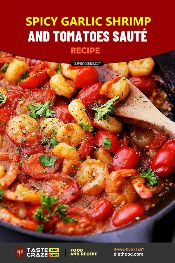 Spicy Garlic Shrimp and Tomatoes Sauté Recipe #GarlicShrimp #Garlic #Shrimp #TomatoesSauté #TomatoSauté #Tomatoes #Sauté #GarlicShrimpRecipe #GarlicRecipe #ShrimpRecipe #TomatoesSautéRecipe #TomatoesRecipe #TomatoRecipe #SautéRecipe #pasta #pastaRecipe #Diethood #SideDish #jumboshrimp #paprika #pepper #vegetablebroth #lemonjuice #parsley