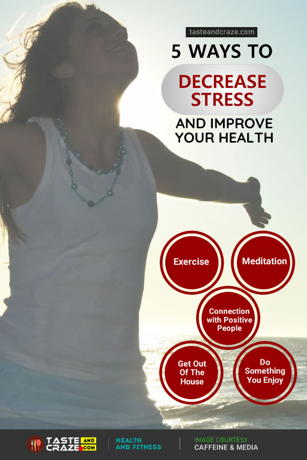 5 Ways to decrease stress and Improve your health #decreasestress #stress #Improvehealth #health #Exercise #Meditation #Connection #FriendsandFamily #FNF #DoSomething #stressrelief #Yoga #FreeHand #Workout #relaxation