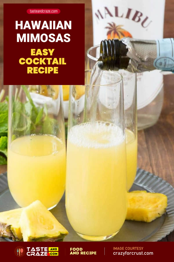 Hawaiian Mimosas - Easy Cocktail Recipe #HawaiianMimosa #Hawaiian #Mimosa #EasyCocktailRecipe #EasyCocktail #EasyRecipe #CocktailRecipe #Cocktail #HawaiianRecipe #MimosasRecipe #HawaiianCocktail #MimosasCocktail #HawaiianDrink #CoconutRum #PineappleJuice #Pineapple #Champagne #Prosecco #Pineappleslices