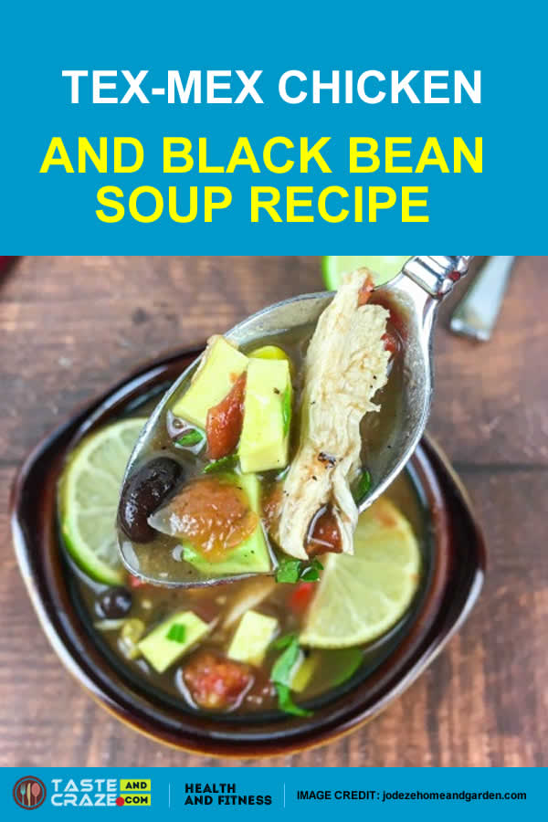This Tex-Mex Chicken & Black Bean Soup Recipe if loaded with lots of veggies and chicken breast and black beans for your protein.