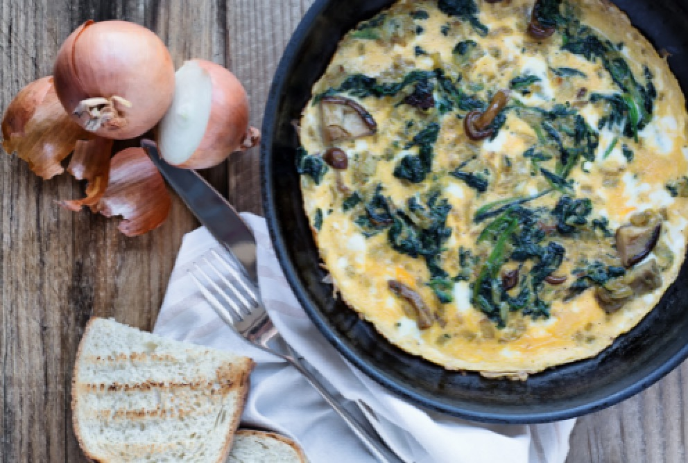 Healthy Mushroom and Spinach Omelette Recipe